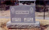 Grabstein von Lilian und Julia Biedermann
