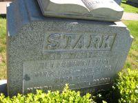 Grabstein der Familie Stark.