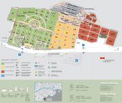 Plan des Jüdischen Friedhofs in Bozen