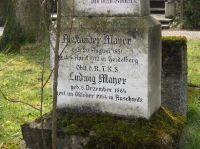 Erinnerung an Ludwig Mayer (Detail)