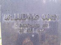Grabstein von Ludwig Cohn