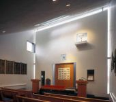 Synagoge Temple Brit Sholom, Cortland, New York, entworfen von Werner Seligmann