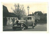 Richard Loewy und sein Opel P4, um 1935