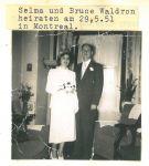 Hochzeit von Selma Loewy und Bruce Waltron, Montreal, 29.5.1951
