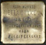 Stolperstein für Netta Dülken
