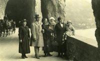 Familie Goldstern in der Schweiz, um 1920