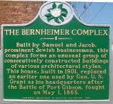 Informationstafel vor dem Bernheimer House in Port Gibson