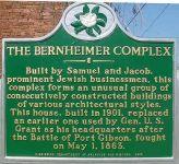 Informationstafel vor dem Bernheimer House in Port Gibson