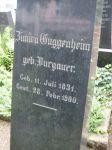Grabstein für Zimira Guggenheim (geb. Burgauer)