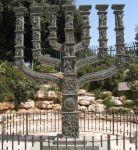 Benno Elkans Menorah vor der Knesset, Jerusalem