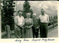 Erna und Leopold Baum (mitte) mit ihren Kinder Heinz (links) und Fritz (rechts)