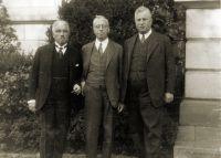 Georg Simon, Kurt Martin, und Franz Herbert Hirschland (von links nach rechts)