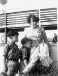 Ronny Loewy, Peter Loewy und Regina Loewy, September 1956