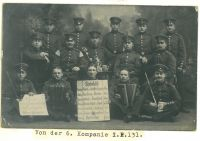 Richard Loewy und 6. Kompanie, 131, um 1913