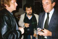 Dany Cohn-Bendit, Ronny Loewy und Louis Malle, 1987