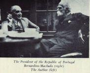 Mosco Galimir (links) und der portugiesische Präsident Bernardino Machado