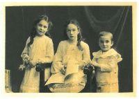 Hilda, Nina und Oscar Brunner, um 1903
