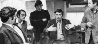 Werner Seligmann (links) mit Fred Koetter, Oswald Mathias Ungers und Jerry Wells, um 1970