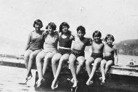 Hilde, Edith, Marianne, Hans, Gerda und Ruth Pasch, um 1928