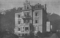 Pension Bellaria, Meran, um 1900