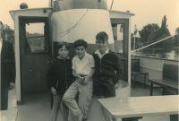 Peter und Ronny Loewy, Michael Armoni (v.l.n.r.), 1960