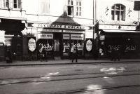 Tuchhaus S.Hacker in der Anichstraße 1938.