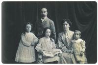 Philip, Fanny, Oscar, Nina und Hilda Brunner (im Uhrzeigersinn)