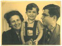 Regina, Ronny und Ernst Loewy, um 1952