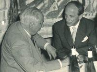 Richard Errell mit Bundespräsident Theodor Heuss, Berlin 1957
