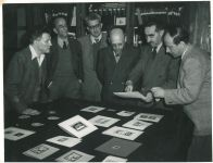 Richard Errell mit Mitgliedern der israelischen Regierung