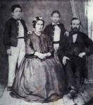 Mathilde und Samuel Moos und ihre Söhne Maximilian und Salomon, 1866