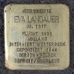 Stolperstein für Eva Landauer