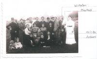 Gruppenfoto, unter anderem Wilhelm, Markus, Frieda und Artur Silberstein