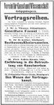 Ankündigung einer Vortragsreihe, Göppinger Zeitung 1926