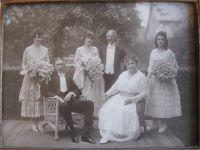Brentano Familien Foto - Hochzeit Emily Brentano ca. 1917