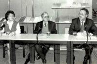 Ernst Loewy, mit  Brita Eckert und Klaus Dieter Lehmann, 1998