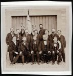 Die Mitglieder des Hohenemser Gesangsvereins 'Frohsinn', um 1865