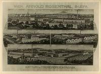 Ansicht der Textilwerke von Arnold Rosenthal