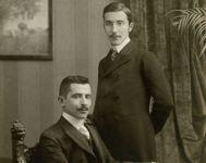 Stefan Zweig (rechts) und Alfred Zweig