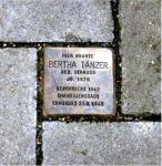 Stolperstein für Bertha Tänzer